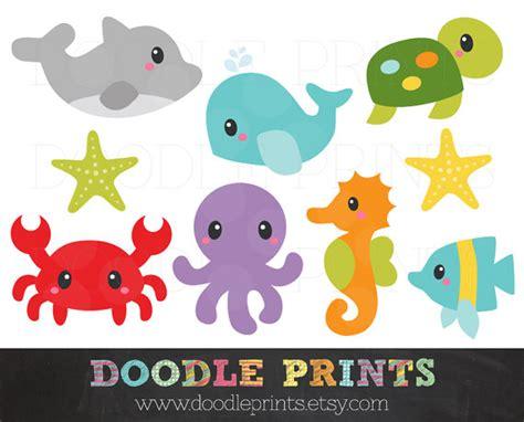 printable ocean animal cutouts ocean clipart sea digital clip art printable under the