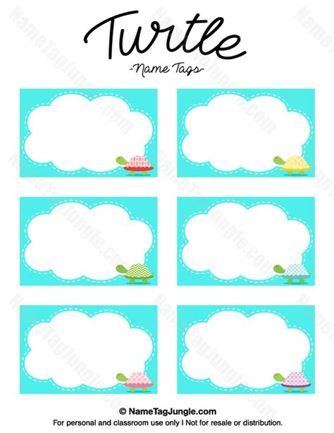name tag design for kindergarten printable turtle name tags