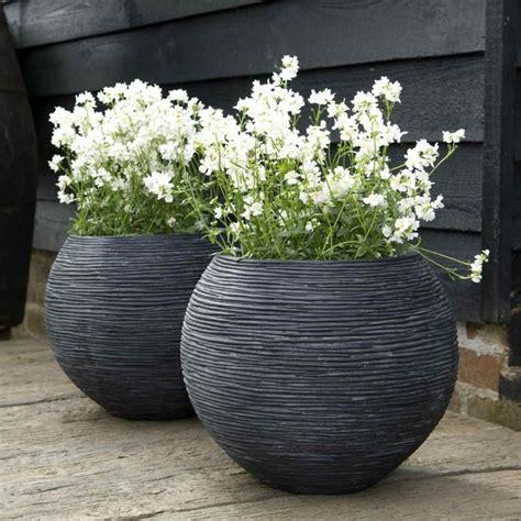 Cadix Planters by Cadix Ribbed Vase Planter Garden