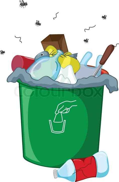 Kitchen Recycle Trash Can by Clipart Fisch Wegwerfen Stock Vektor Colourbox