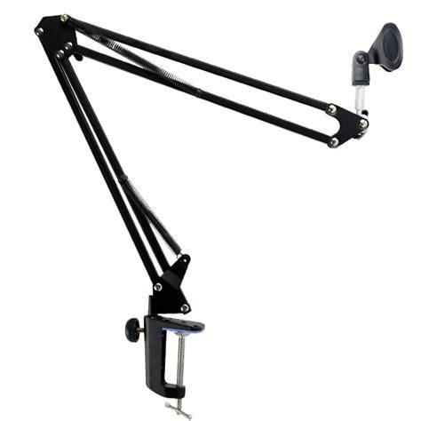 Microphone Suspension Boom Scissor Arm With 2 X Smartphone Lazypod broadcast studio microphone mic suspension boom scissor arm stand ws ebay