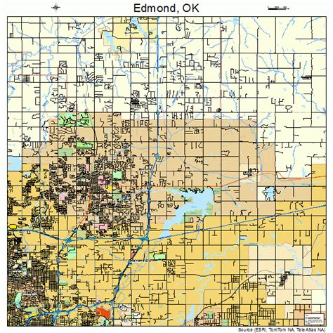 where is edmond oklahoma on the map edmond oklahoma map 4023200