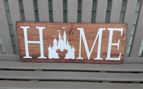 disney home sign disney sign home decor handmade wooden