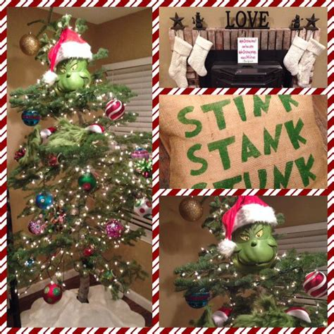 grinch stole christmas tree grinchy xmas pinterest