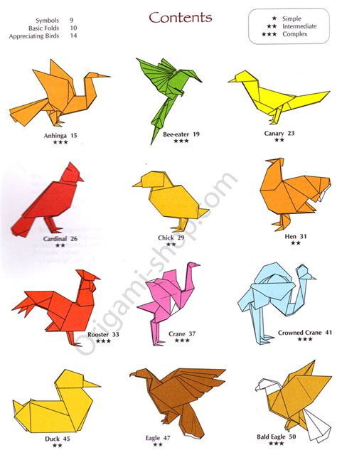 Origami Birds - the flapping bird origami hairstylegalleries