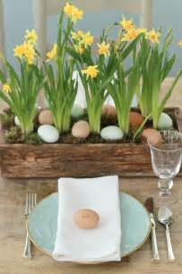 Easter Table Decorations Steffens Hobick Easter Egg Hunt Centerpiece Blue Eggs Daffodils