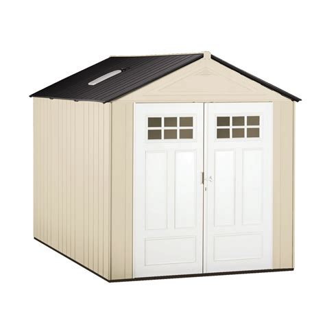 shop rubbermaid gable storage shed common  ft   ft