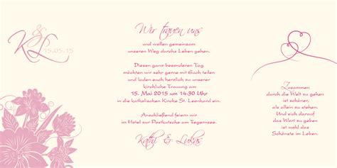 Hochzeitseinladung Floral by Altarfalz Hochzeitseinladung Florale Elemente In Pink