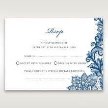 dinner response card template rsvp cards beautiful wedding stationery accessories