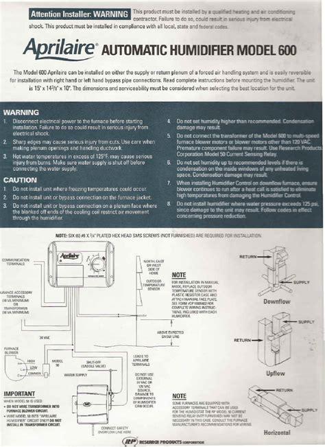aprilaire 400 wiring diagram 28 wiring diagram images