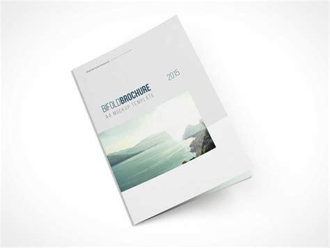 Bi Fold Brochure Paper - a4 bi fold top view brochure psd mockup psd mockups