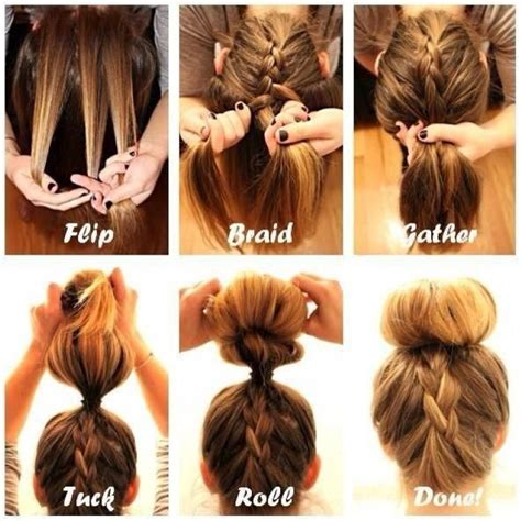 Hairstyles Tutorial by Braided Bun Hairstyles With Weave Official