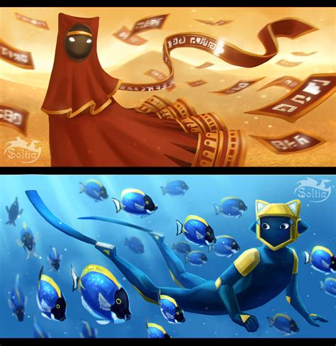 journey and abzu by soltia on deviantart