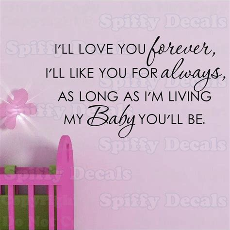 a baby for forever books i ll you forever nursery baby quote vinyl wall decal
