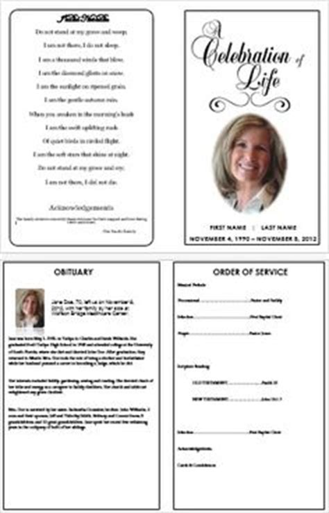 memorial bulletin template 1000 images about printable funeral program templates on
