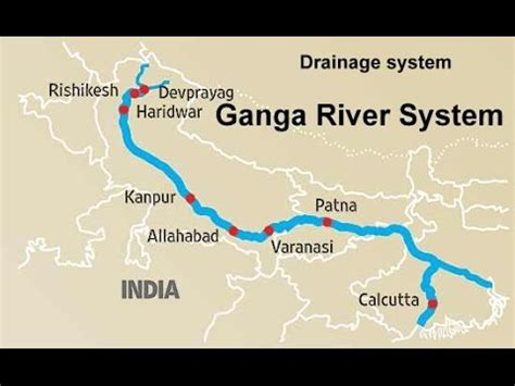 ganges river map the ganga river system physical geography of india