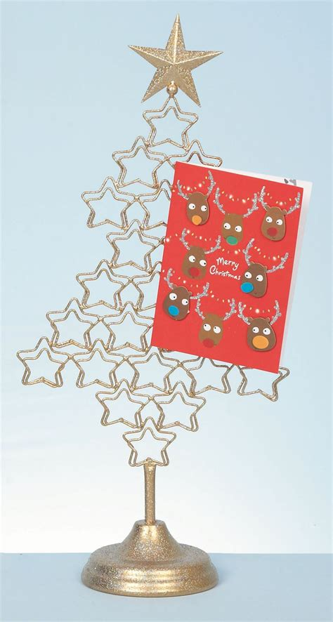 metal 54cm christmas tree card holder xmas freestanding