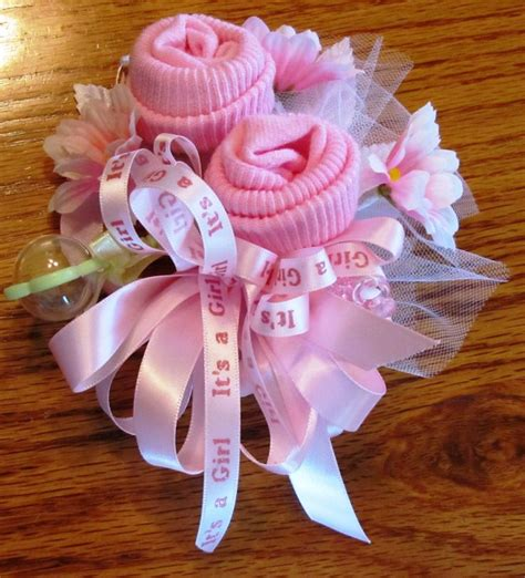 25 best ideas about baby sock corsage on baby