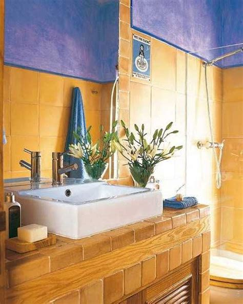 blue and yellow bathroom ideas 33 vintage yellow bathroom tile ideas and pictures