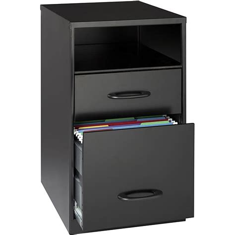 Office Designs Black 2 Drawer Mobile File Cabinet office designs black steel 2 drawer file cabinet with shelf free shipping today overstock