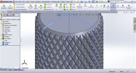 how to pattern a sketch in solid edge tutorial creating knurl in solidworks grabcad