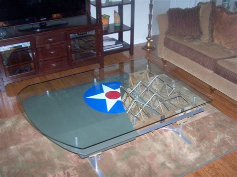 Airplane Wing Coffee Table by Airplane Wing Tables The Awesomer