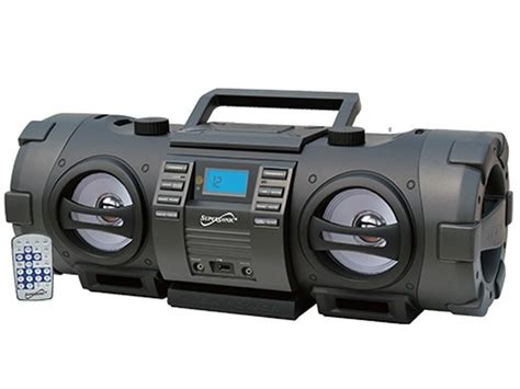 best portable boombox supersonic sc 2711bt cd mp3 player fm usb wireless