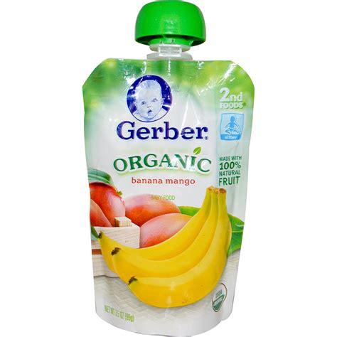 gerber cim gerber 2nd foods organic baby food banana mango 3 5 oz 99 g iherb