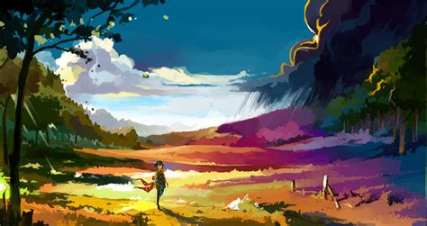 anime landscape colorful wallpapers hd desktop