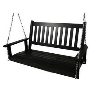 Lawn Chairs Lowes Shop Garden Treasures 2 Seat Wood Traditional Swing At