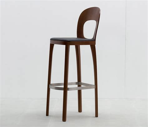 designer bar stool simple sophisticated round topped bar stool hussl from