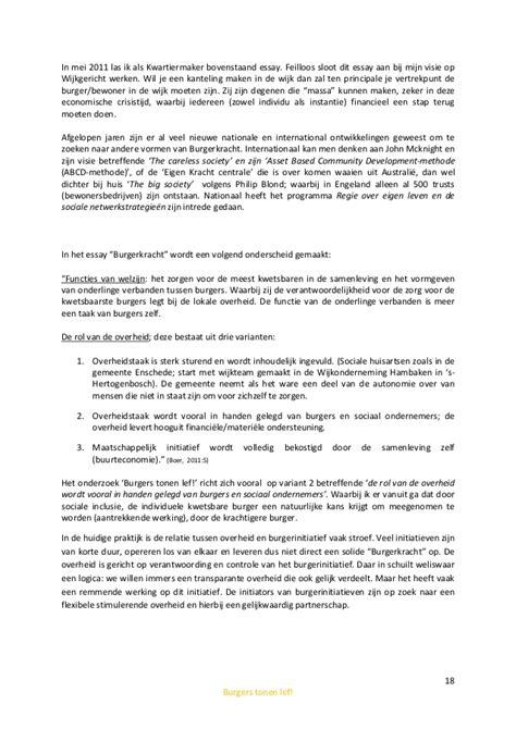 Essay Burgerkracht by Burgers Tonen Lef Masterthese Definitief 3 H