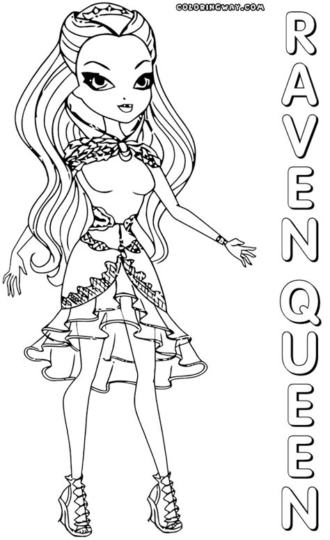 coloring page of raven queen raven queen coloring pages coloring pages to download
