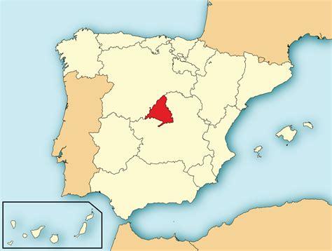 comunidad de madrid madrid file localizaci 243 n de la comunidad de madrid svg