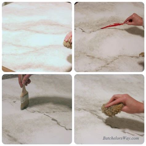 how to faux paint countertops remodelaholic 30 diy faux marble countertops