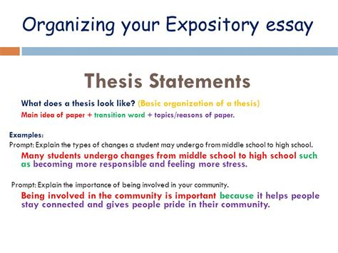 Expository Essay Thesis Statement Exles by Thesis Statement In An Expository Essay Exles Writing A Thesis Ayucar