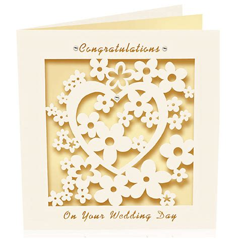 Wedding Card Congratulations by Laser Cut Card Congratulations Wedding Day By Pink