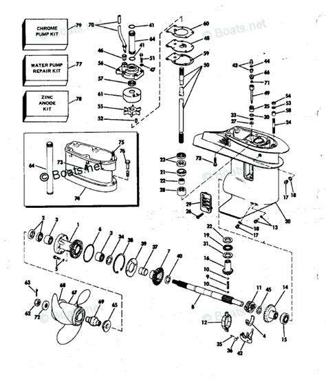 boats net evinrude parts evinrude outboard parts by year 1982 oem parts diagram for