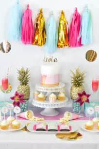 tropical themed bridal shower kara s ideas tropical aloha themed bridal shower