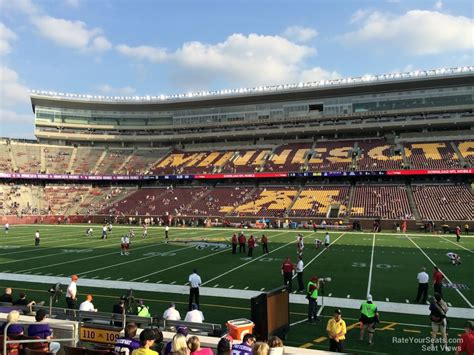 bank sections tcf bank stadium section 109 minnesota football