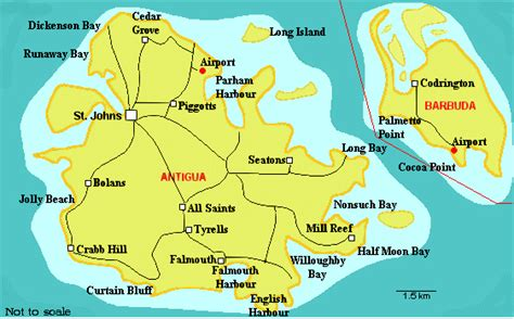 printable road map of antigua detailed road map of barbuda barbuda detailed road map