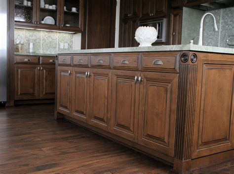 Incridible Wooden Distressed Alder Cabinets With White