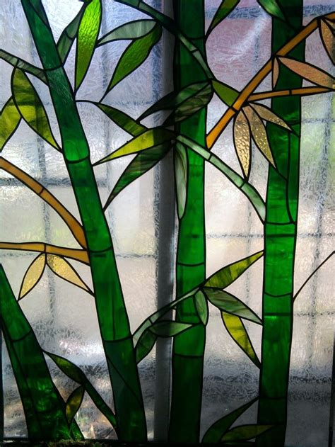 stained glass bamboo grove  artistic glass hf stained