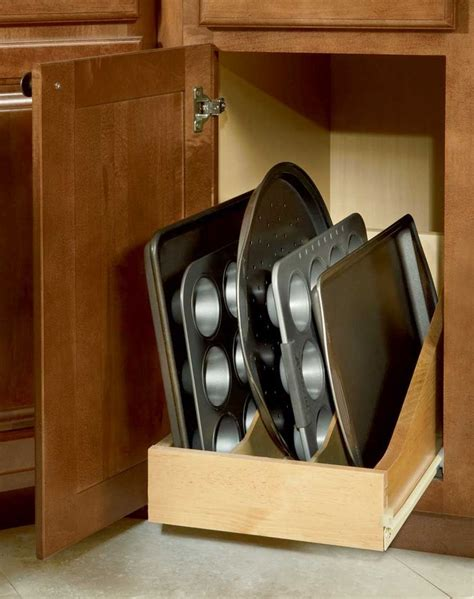 kitchen cabinet roll out trays roll out tray divider organize your space pinterest