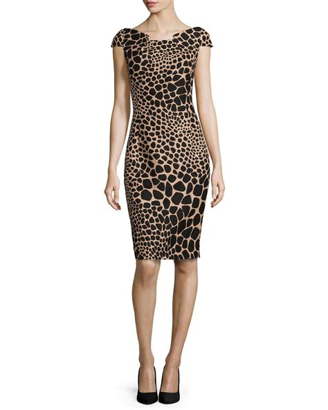 Origami Print Dress - michael kors giraffe print origami dress in black lyst