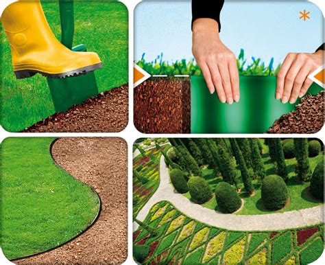 Install Landscape Edging Roll Plastic Garden Grass Lawn Edge Edging Border Fence Wall