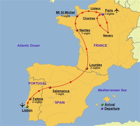 map of spain portugal portugal spain and tours