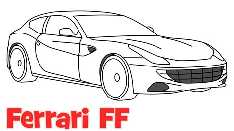 car ferrari drawing how to draw a car ferrari ff step by step easy drawing for
