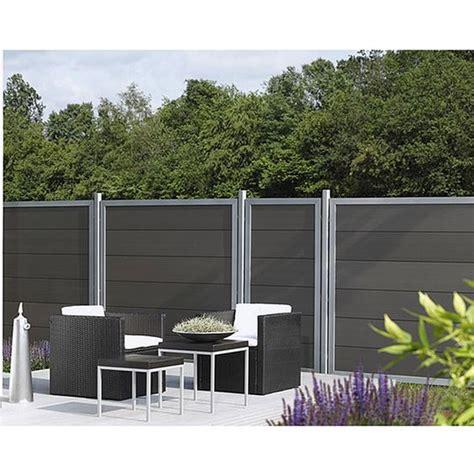 Moderne Terasse 5212 by Wpc Desigzaun Alu Anthrazit 90 X 180cm Garten