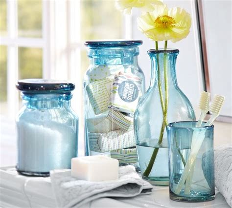 Recycled Glass Bathroom Accessories Recycled Glass Bath Accessories Contemporary Bathroom Accessories By Pottery Barn